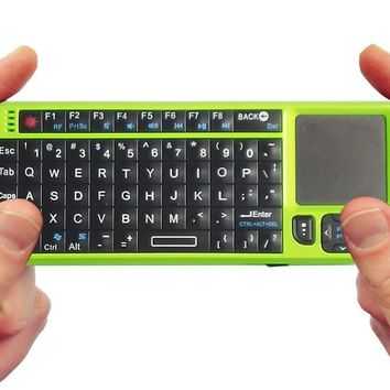 FAVI FE01-GR Mini 2.4GHz Wireless Keyboard Touchpad with Laser Pointer (Green)