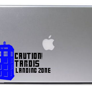 Doctor Who Decal / Doctor Who Tardis Decal / Macbook Decal / Laptop Decal / Laptop Sticker / Doctor Who