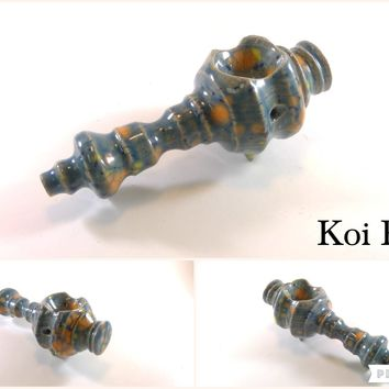 Ceramic Pipe #ASL022 Color: Koi Pond