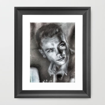 River Phoenix Framed Art Print by SVA / Silvia V An