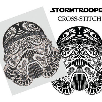 Stormtrooper Star Wars Cross Stitch Pattern