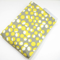 Diaper Changing Mat, Mod Dots Baby Changing Mat, Diaper Bag Accessory, Gray and Yellow