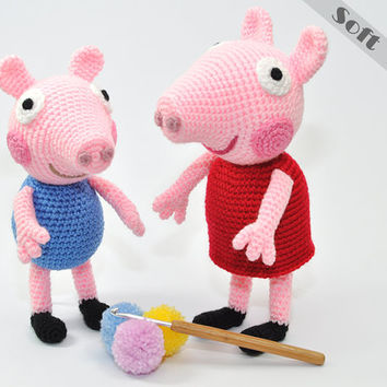 Shop Crochet Pig on Wanelo