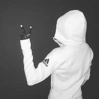 "Winter ""Adidas"" Hooded Zipper Cardigan Sweatshirt White"