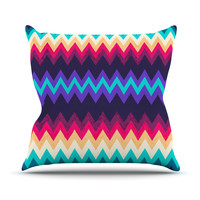 "Nika Martinez ""Surf Chevron"" Outdoor Throw Pillow"