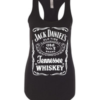 Jack Daniels Whiskey Black Racerback Tank Top Cute Summer Tank Womens