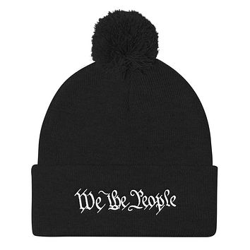 We the People Pom Pom Knit Cap