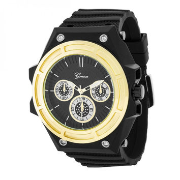 Men's Chronograph Sports Watch - Gold
