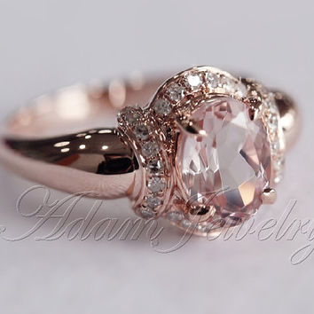 Shop Unique Morganite Engagement Rings on Wanelo