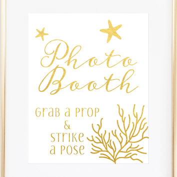 Nautical Wedding Sign - Photo Booth Sign