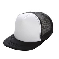 Voberry® Unisex Summer Mesh Adjustable Baseball Cap Hat Blank Visor Hat (White)