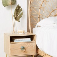 Isoke Oak Storage Nightstand