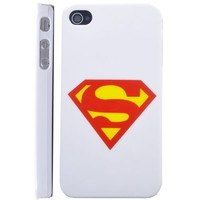 Superman Mark Hard Case for Iphone 4 (White)