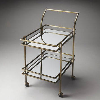 Butler Specialty Gatsby Antique Brass Bar Cart - 3139226