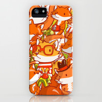 The Fox Family iPhone & iPod Case by Bobsmade