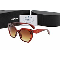 PRADA Trending Women Stylish Summer Style Sun Shades Eyeglasses Glasses Sunglasses Red I-AJIN-BCYJSH