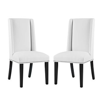 Baron Dining Chair Faux Leather Set of 2
