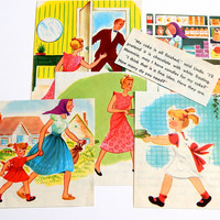 Vintage Book Pages. Daddy's Birthday Cakes. Rand McNally. Old Book Pages. Book Illustration. Story Book. Scrapbooking. Mixed Media Supply.