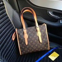 DCCK Louis Vuitton Women Fashion Leather Satchel Shoulder Bag Handbag Crossbody