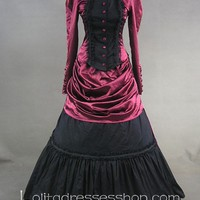 Long Sleeves Elegant Vintage Gothic Victorian Lolita Dress