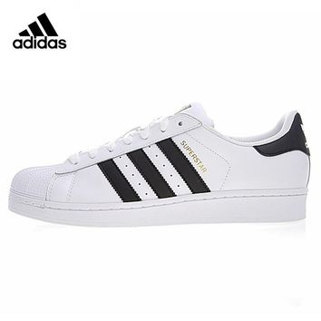 Adidas Originals Superstar Men's and Women's Walking Shoes, Black/green, Wear-resistant Lightweight Breathable C77124 BY3722