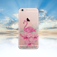iPhone 6 case Clear iPhone 6S case Flamingo Samsung galaxy S6 case transparent Samsung galaxy S5 case Note 5 case iphone 5S case LG G4 case