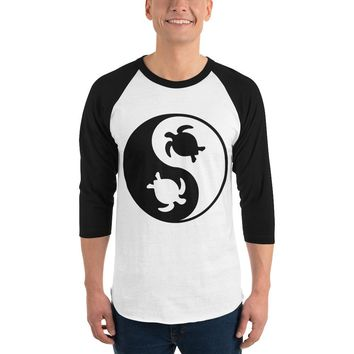 Native American Turtles All The Way Down 3/4 sleeve raglan shirt