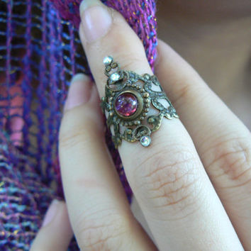 knuckle ring armor ring midi ring dragons breath claw ring nail ring finger tip ring vampire goth victorian moon goddess pagan boho gypsy