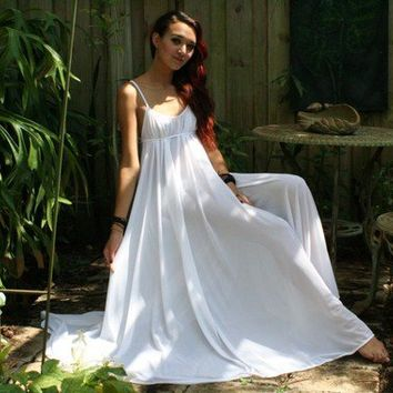 Grecian Goddess Bridal Nightgown Wedding by SarafinaDreams on Etsy