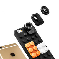 iPhone lens 6/6s Case and 4 lens system fisheye, macro & wide angle lenses