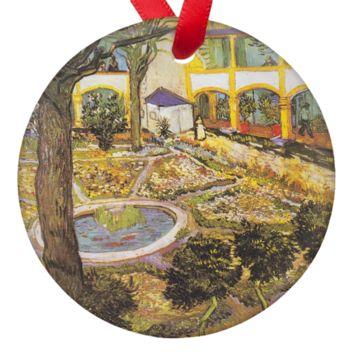 Vicent Van Gogh Art Hospital in Arles Porcelain Ornaments