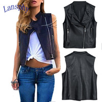 Fashion European Autum PU leather Women Motorcycle Leather Jacket Slim Casual Tops Locomotive Short Vest Coats NW