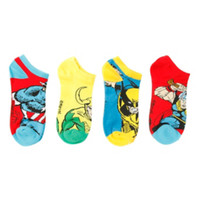 Marvel Characters No-Show Socks 4 Pair