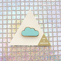 Blue Cloud Brooch by Hug A Porcupine