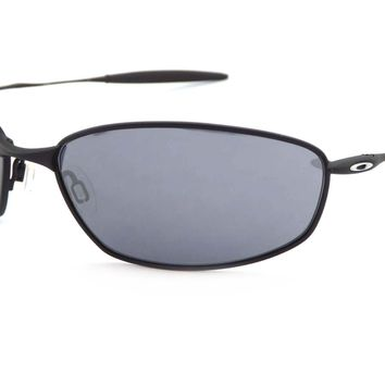 GENUINE OAKLEY WHISKER (EX-DISPLAY) Black/Black Iridium 05-715 sunglasses.