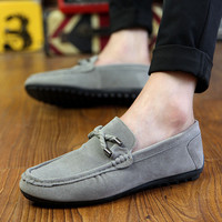2017 New Arival Spring Summer Fashion Leisure for Men Black Moccasin Casual Shoes Breathable Blue All Match Soft Gray Comfort