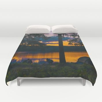 Down By The River Duvet Cover by Gallery One