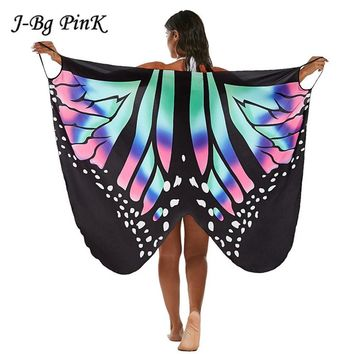 Ladies Summer Beach Dress Chic Multi-style Colorful Soft Fabric Butterfly Wings Fairy Cover-Ups Costume Backless Dresses