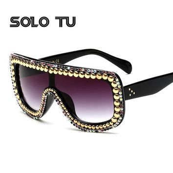 2017 Diamond Women Sunglasses Female Fashion Sunglasses Famous Brand Designer Sun Glasses Oculos De Sol Feminino