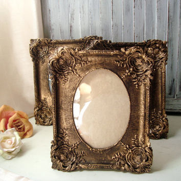 Gold Vintage Style Ornate 5 x 7 Frame, Table Number Frames, Shabby Chic Distressed Gold Frame, Wedding Frame, Picture Frame, Nursery Frame