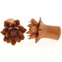 Pair of Sabo Wood Water Lily Plugs: 0g
