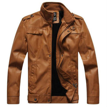 Winter style Mens  Leather Coats