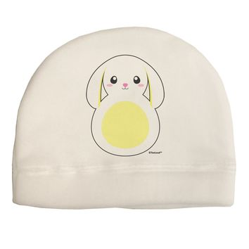 Cute Bunny with Floppy Ears - Yellow Adult Fleece Beanie Cap Hat by TooLoud