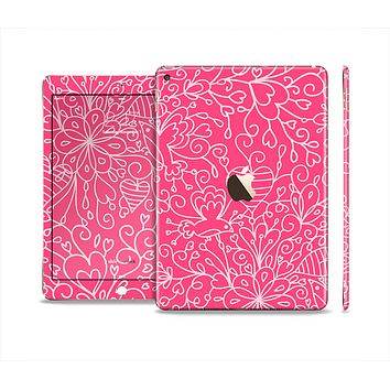 The Pink & White Abstract Illustration V3 Skin Set for the Apple iPad Air 2
