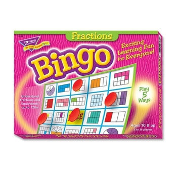 trend enterprises fractions bingo game, 3-36 players, 36 cards/mats Case of 3
