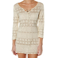 SURFSTITCH - WOMENS - DRESSES - CASUAL DRESSES - QUIKSILVER LACE STRIPE TUNIC - LACE STRIPE