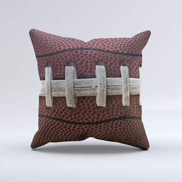Football Laced Ink-Fuzed Decorative Throw Pillow