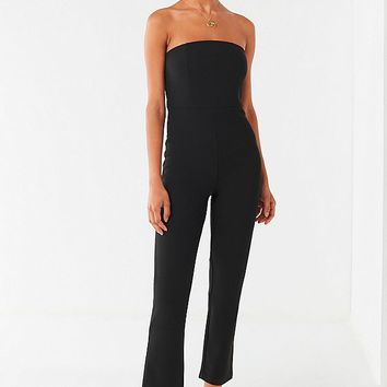 UO Sena Strapless Jumpsuit | Urban Outfitters