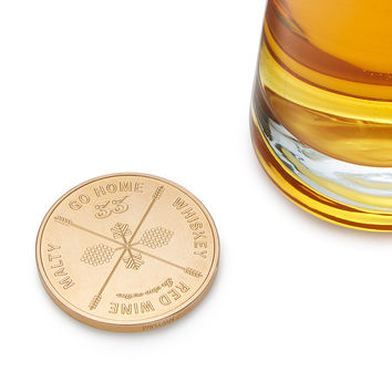 Drinking Decision Coin | Drinking game coin, drinking coin