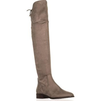 Ivanka Trump Larell Over-The-Knee Riding Boots, Dark Gray, 8 US